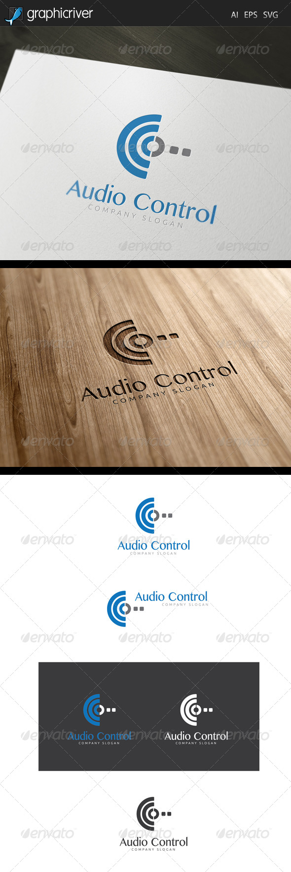 GraphicRiver Audio Control Logo 7450072