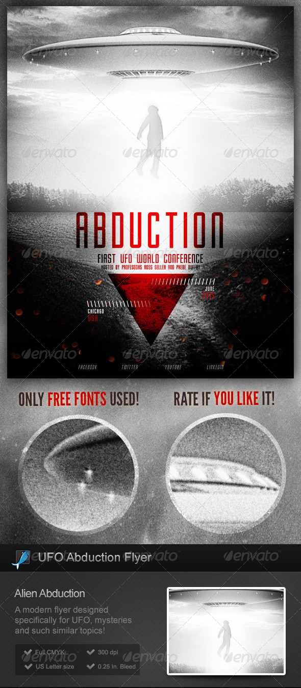 GraphicRiver UFO Alien Abductions Flyer Poster 7450209