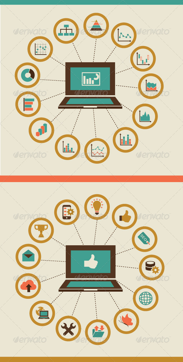 GraphicRiver Flat Concept of Computer Graphs 7450257