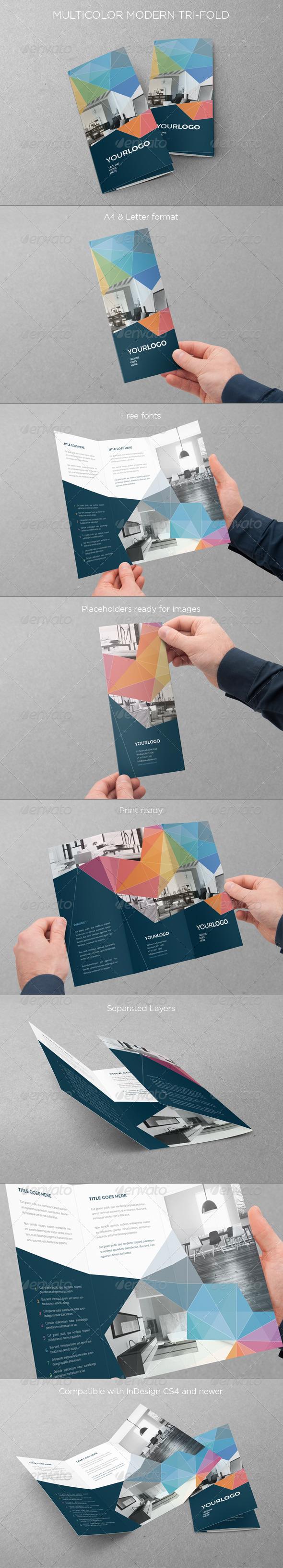 GraphicRiver Multicolor Modern Trifold 7450613