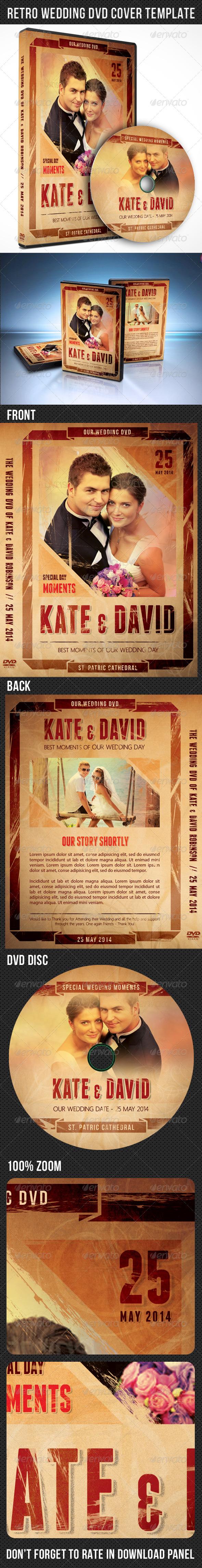 GraphicRiver Retro Wedding DVD Cover Template 7450625