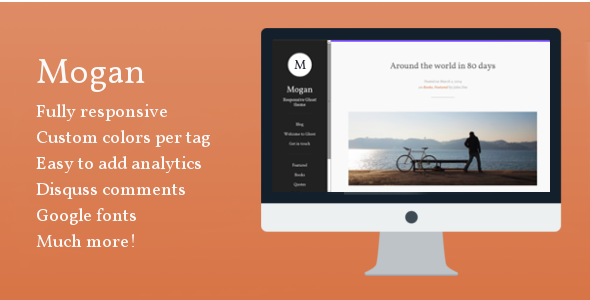 ThemeForest Mogan Responsive Ghost Theme 7450629