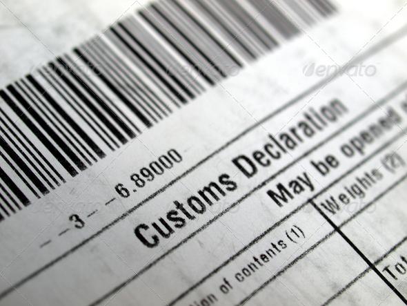 Stock Photo - PhotoDune Customs declaration 770001
