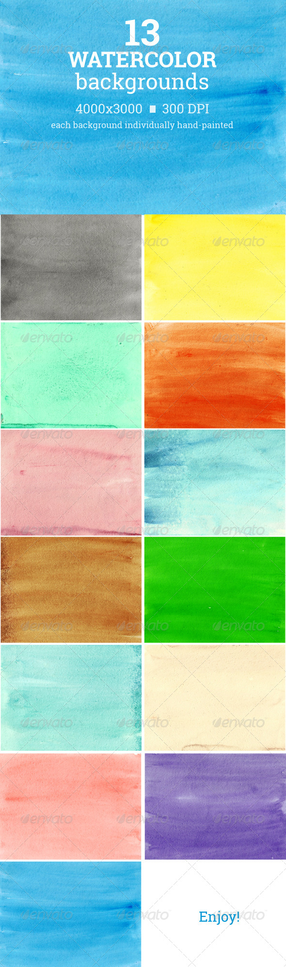 GraphicRiver Watercolor Backgrounds 7432245