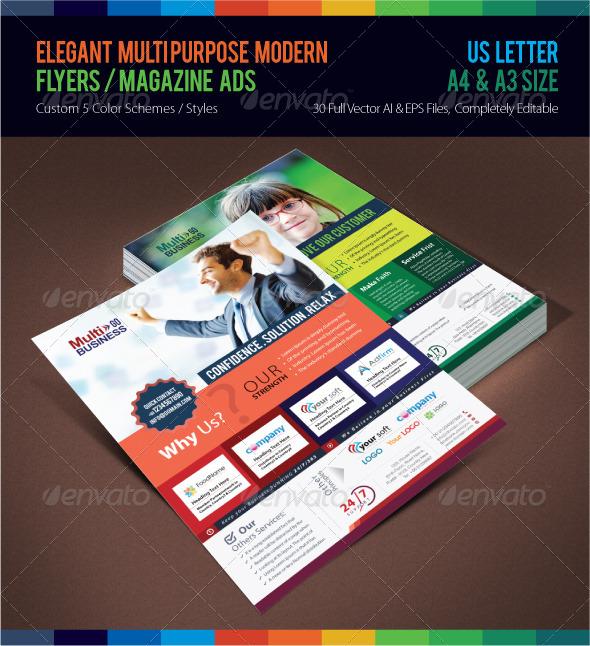 GraphicRiver Elegant Multi-purpose Modern Flyers Magazine Ads 7384324