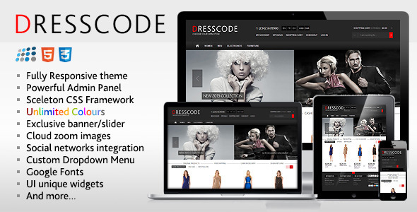 Dresscode is premium responsive NopCommerce theme which can be used according to your needs and requirements. It includes a lot of custom features. Fully respon