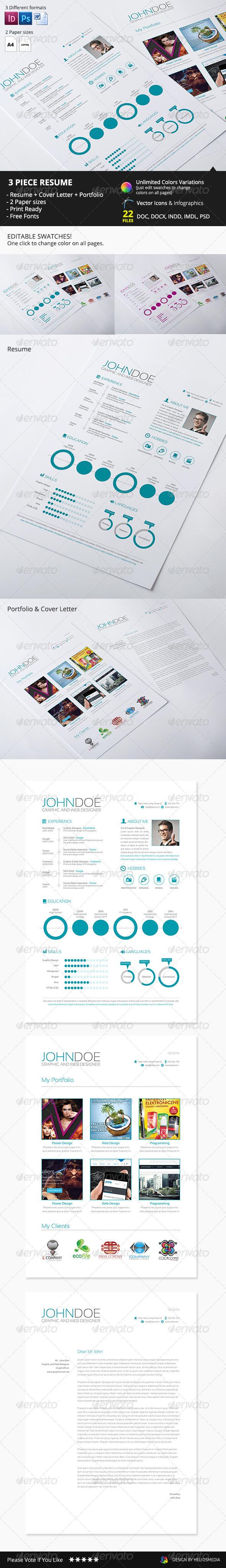 3-Piece Resume / CV