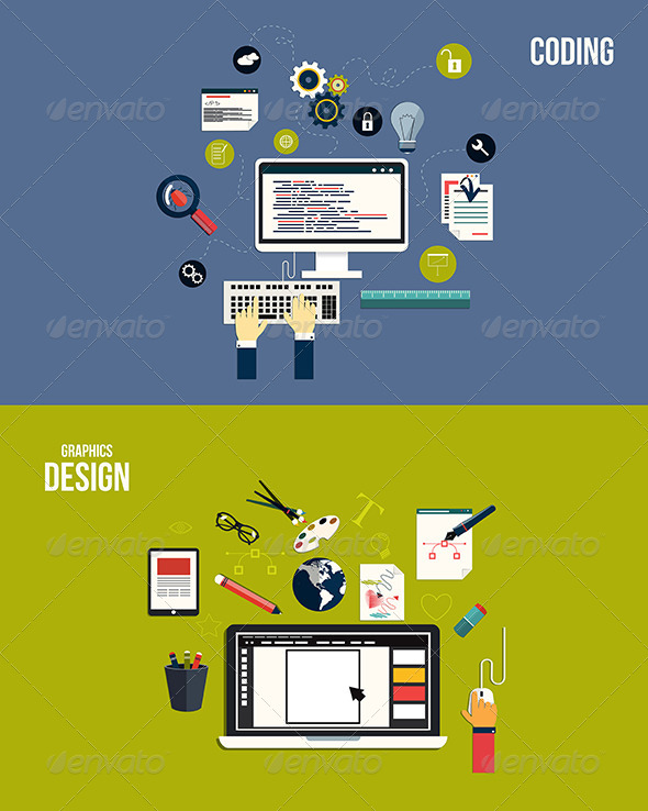 GraphicRiver Icons for Graphics Design and Coding 7450711