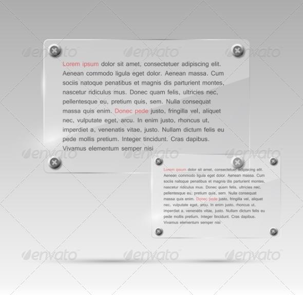 GraphicRiver Realistic Glass Frames Vector Illustration 7450861