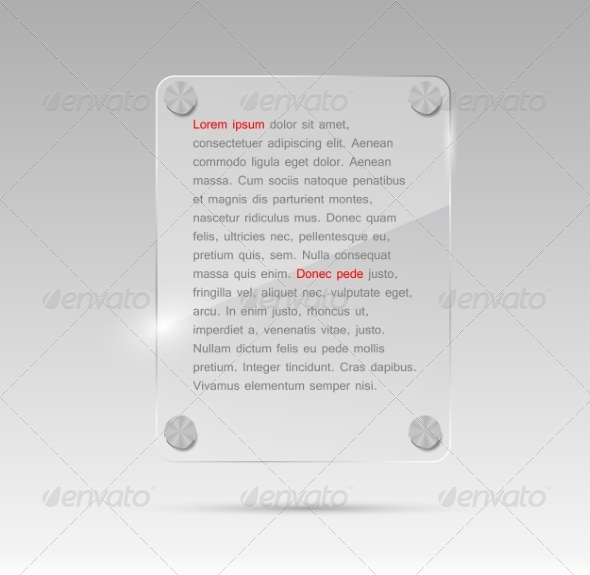GraphicRiver Realistic Glass Frames Vector Illustration 7450865