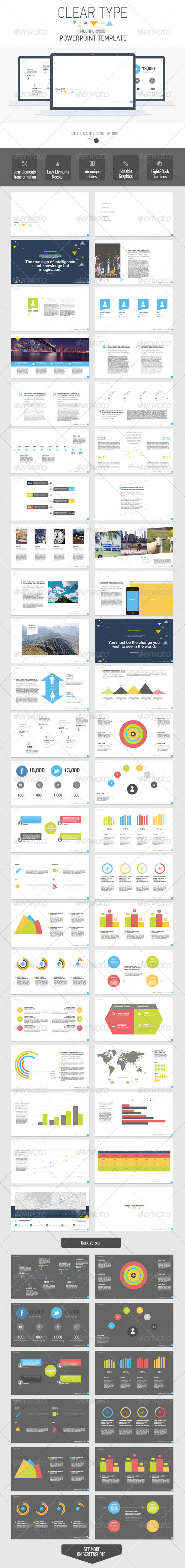 GraphicRiver Clear Type Powerpoint Multipurpose Template 7450919