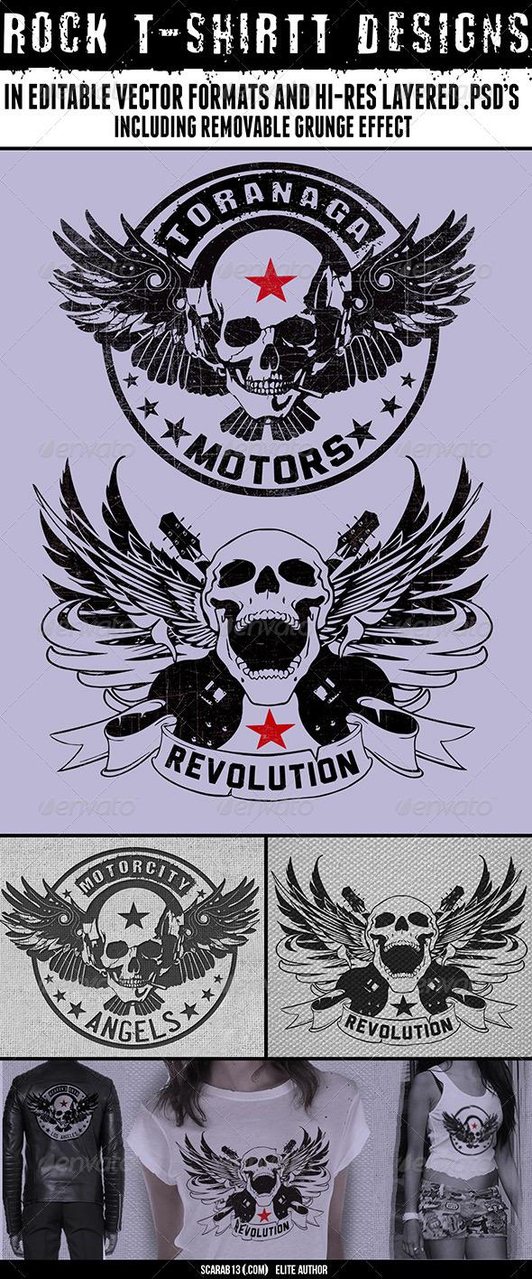 2 Rock T-Shirt Designs