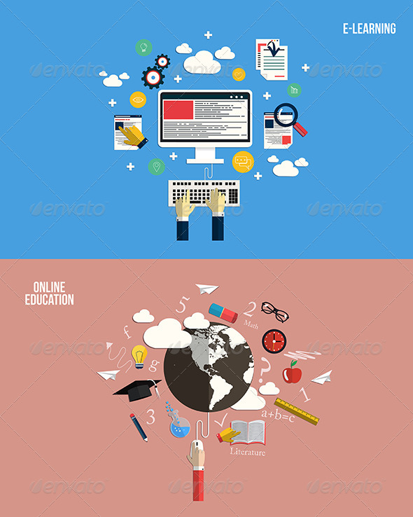 GraphicRiver Icons for Online Education and e-Learning 7451068