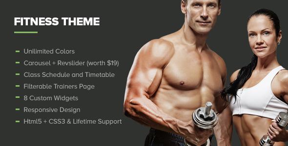 Fitness - Premium Gym WordPress Theme