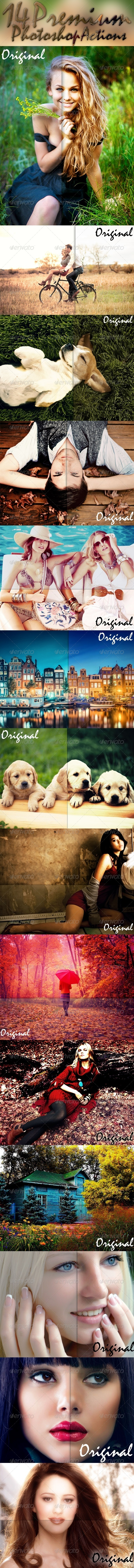 GraphicRiver 14 Premium Photoshop Actions 7451109