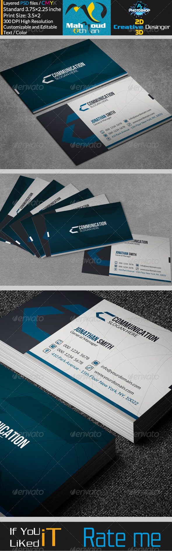GraphicRiver Corportae Business Card V13 7451762