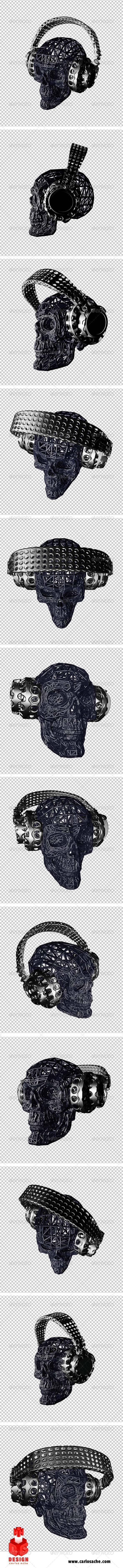 GraphicRiver Skulls Dj's Twelve Views 7440346