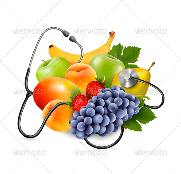 GraphicRiver Fruit with a Stethoscope 7451853
