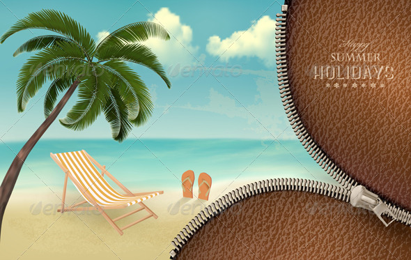 GraphicRiver Vacation Background 7451869