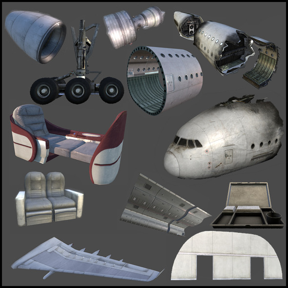 Aircraft Parts - 3DOcean Item for Sale
