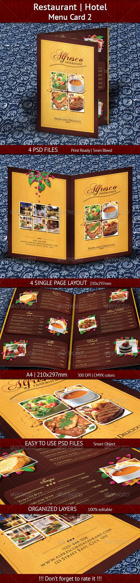 GraphicRiver Restaurant Hotel Menu Card 2 7452093
