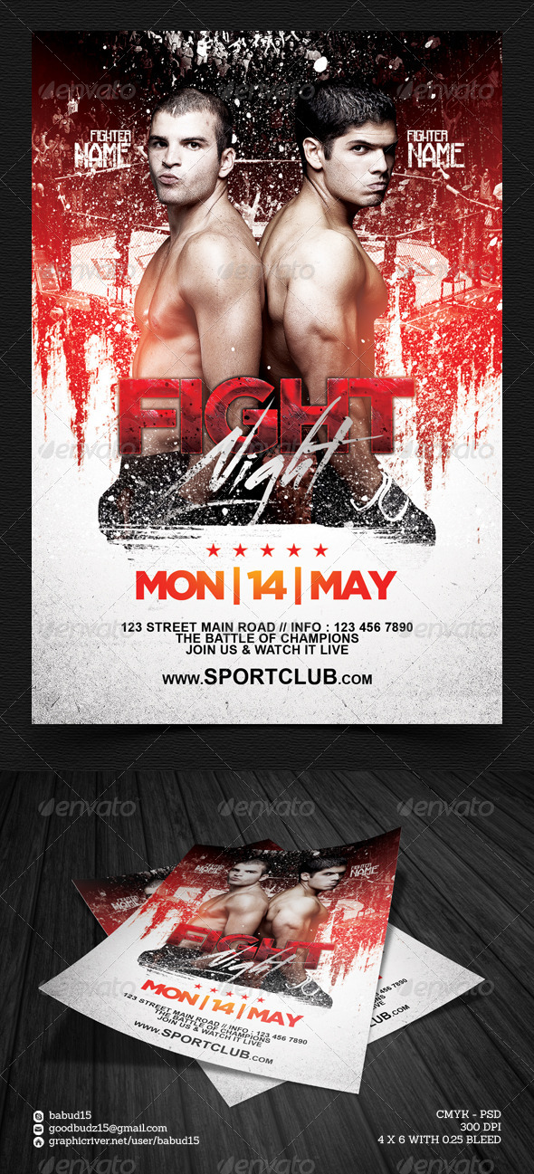 GraphicRiver Fight Night Flyer Template 7447231