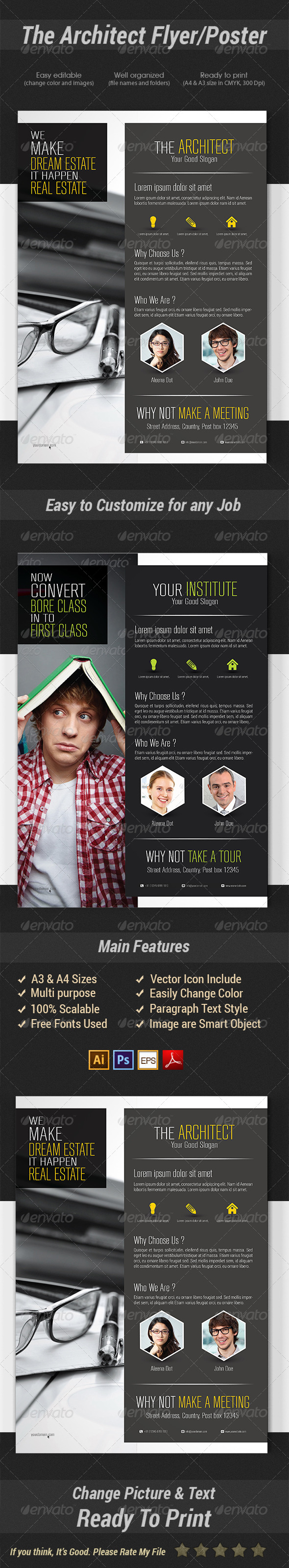 GraphicRiver The Architect Flyer Poster 7437056