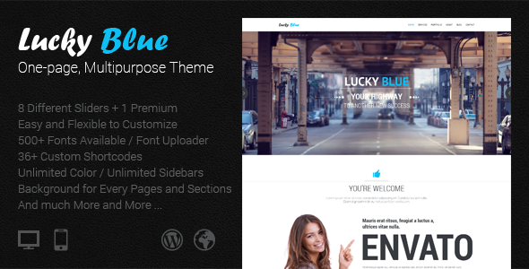 Lucky Blue - One-page, Multipurpose