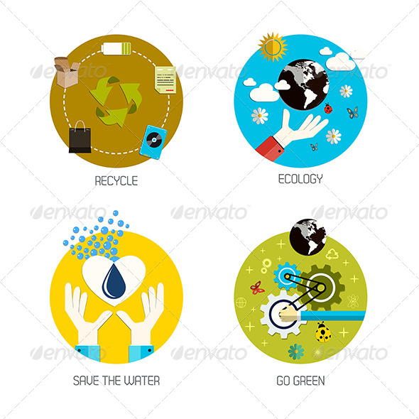 GraphicRiver Recycle and Ecology Icons 7454143