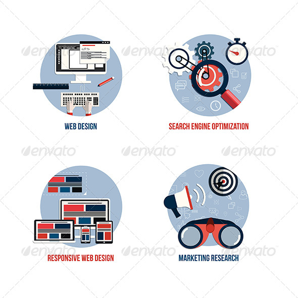 GraphicRiver SEO and Web Design Icons 7454225