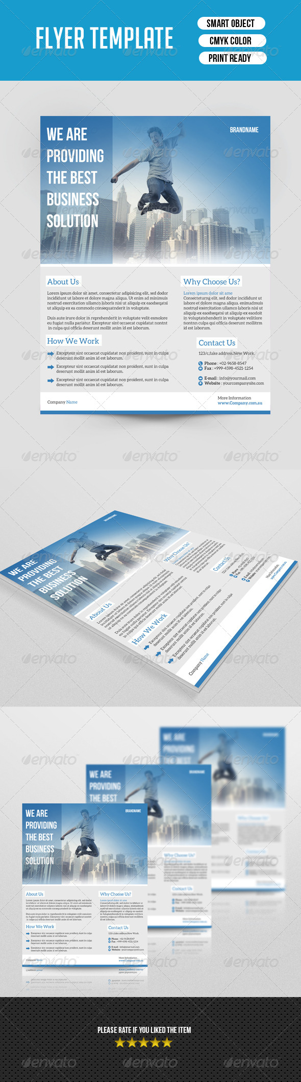 GraphicRiver Business Flyer Template 7455131