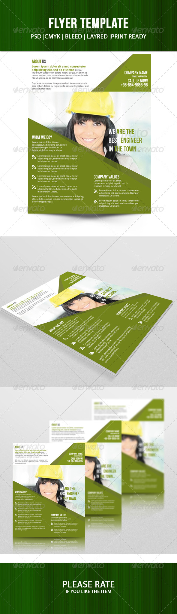 GraphicRiver Corporate Flyer Template 7455230