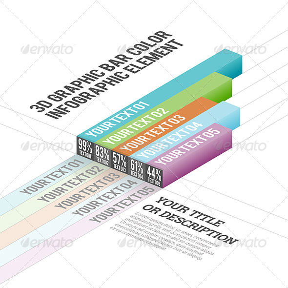 GraphicRiver 3D Graphic Bar Color Infographic Elements 7455346