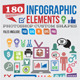 180 Infographic Elements Custom Shapes - GraphicRiver Item for Sale