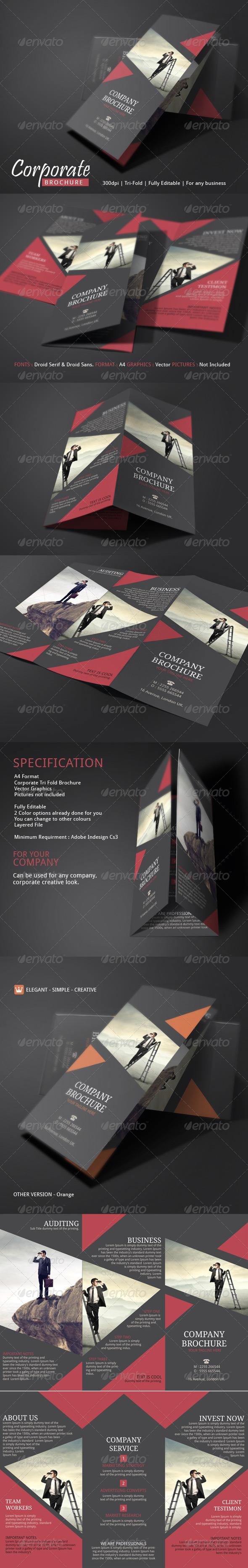 GraphicRiver Corporate Brochure Template 7450480