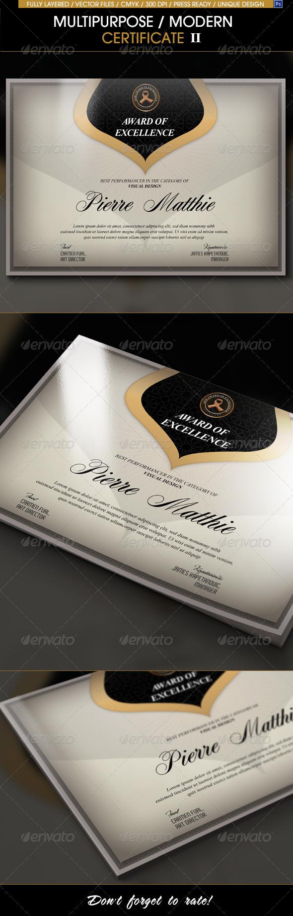 GraphicRiver Multipurpose Modern Certificate v.2 7456876