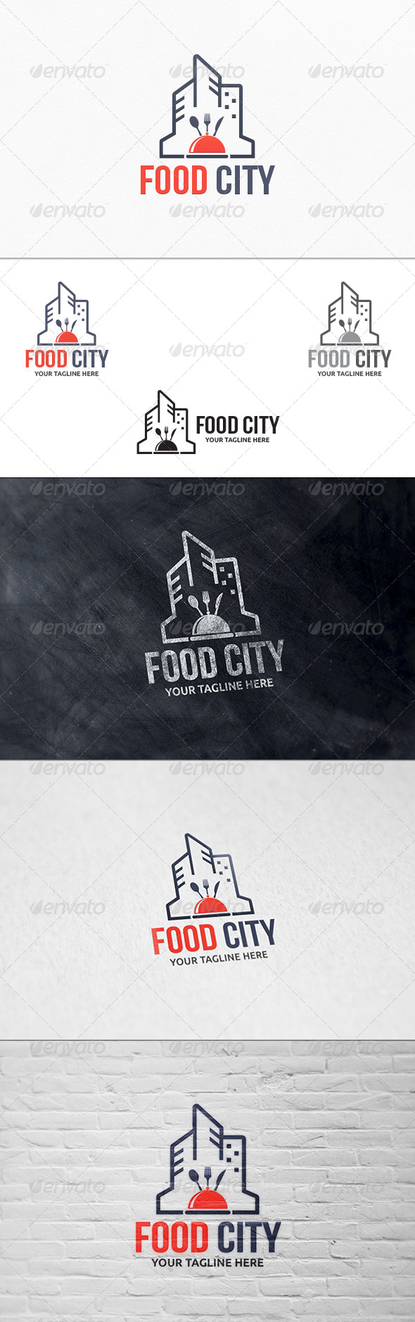GraphicRiver Food City Logo Template 7457189