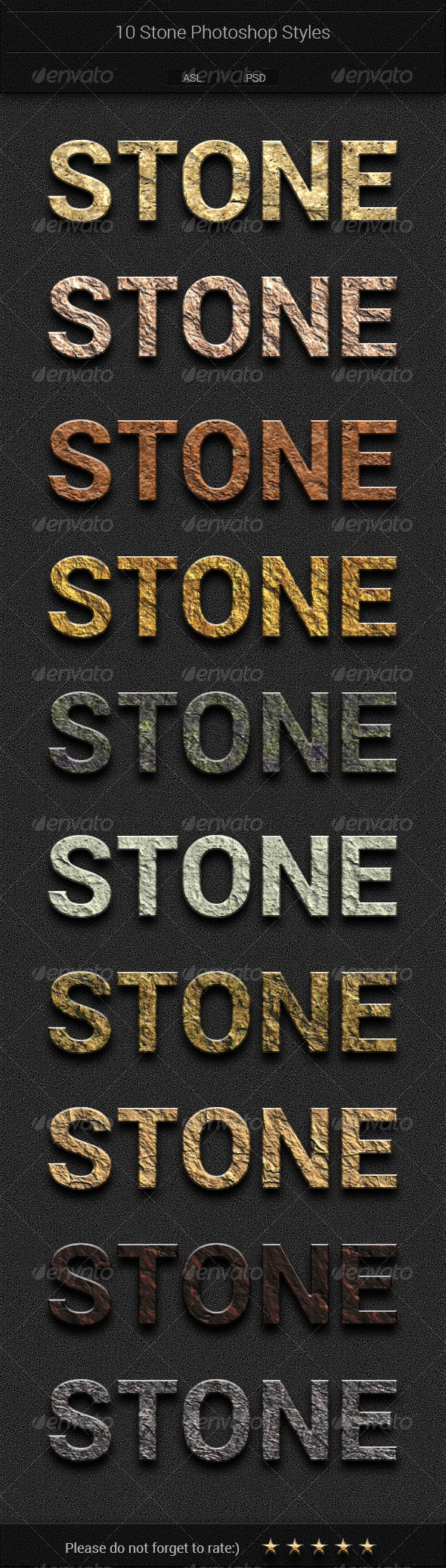 GraphicRiver 10 Stone Text Styles 7457825