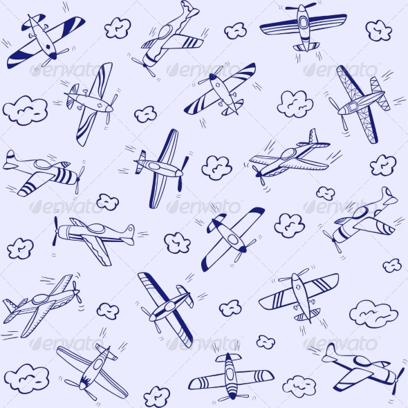 GraphicRiver Airplanes Pattern 7457964