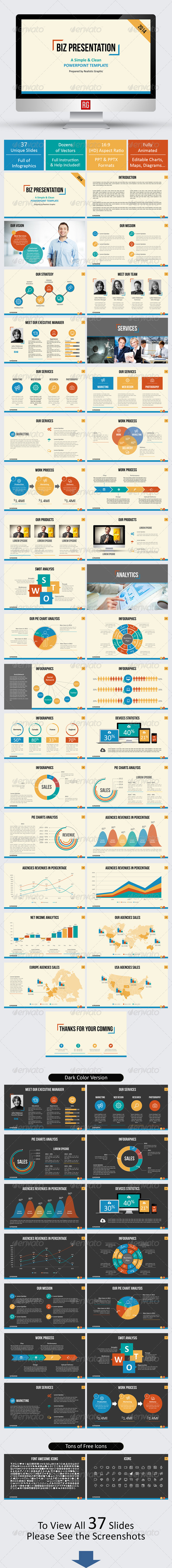 GraphicRiver BIZ Presentation Powerpoint Template 7451071