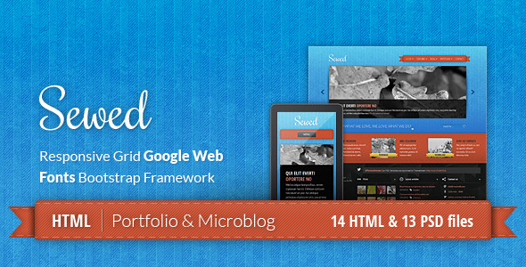 Sewed - Responsive Portfolio and Microblog