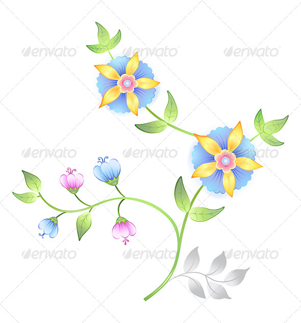 GraphicRiver Flower Branches Set 7458000
