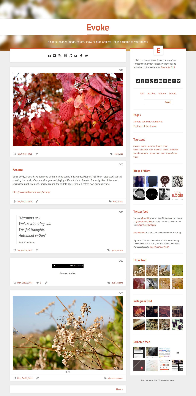 Evoke - Responsive Tumblr Theme