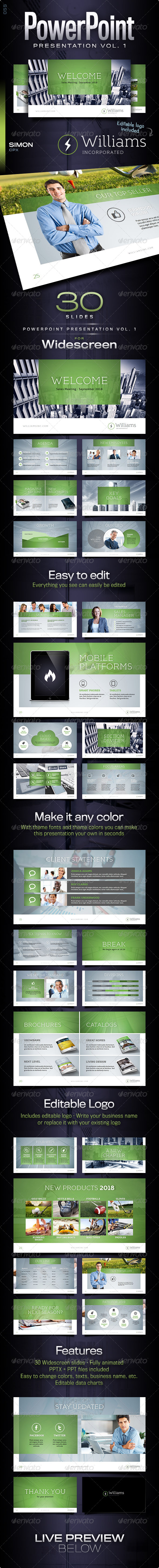 GraphicRiver PowerPoint Presentation Vol 1 7458030