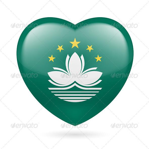 GraphicRiver Heart icon of Macau 7458579