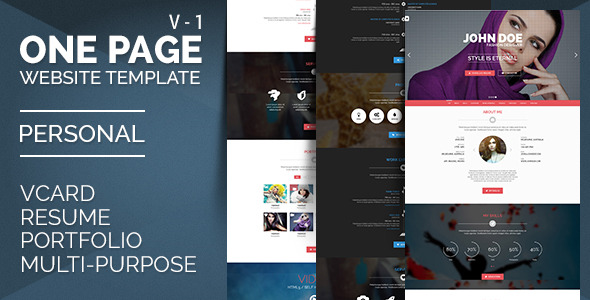 Personal One - OnePage / VCard / Resume