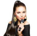 Beautiful Singing Girl. Beauty Woman with Microphone - PhotoDune Item for Sale