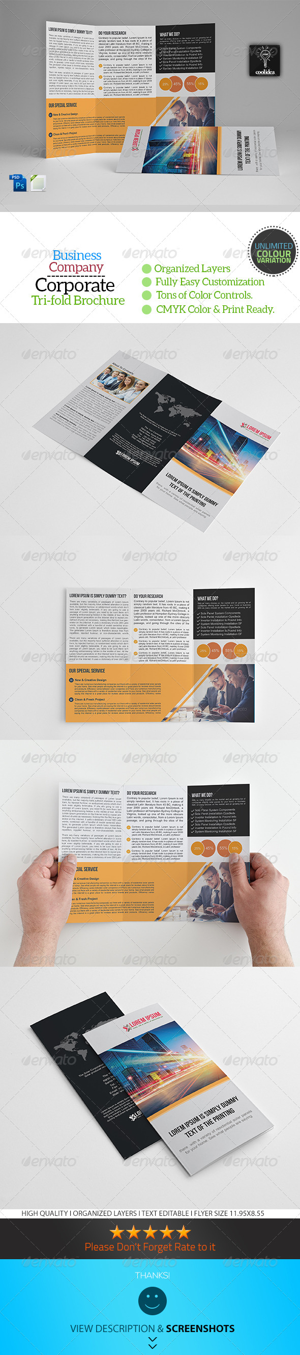 GraphicRiver A4 Trifold Business Brochure Template Vol09 7459033
