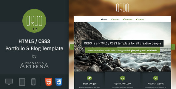 Ordo | Portfolio & Blog Template