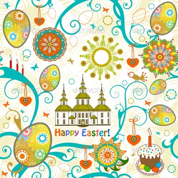 GraphicRiver Easter Seamless Background 7459384